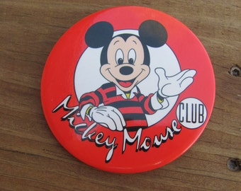Vintage Mickey Mouse Club Button
