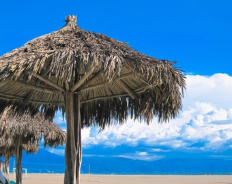 Beach umbrella in Puerto Vallarta