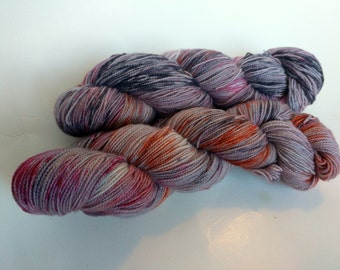 Apocalypse on Max 80/20 SW Merino Nylon Hand dyed fingering weight sock yarn