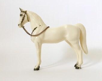 Vintage Breyer Horse Model, Western Pony Traditional Model Horse, 1958-1971, Semi-Glossy Alabaster