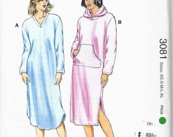 Kwik Sew 3081 Misses Nightgown Pattern, Loungewear, XS-XL,  UNCUT