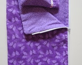 American Girl Doll Clothes; Doll Sleeping Bag; American Girl Doll Sleeping Bag and Pillow; Purple Doll Sleeping Bag; Purple Sleeping Bag
