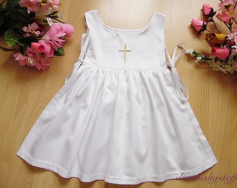 Christening pinafore embroidery ,0 month-10 years