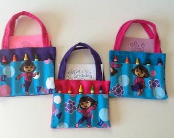 Dora the Explorer Children's Crayon Bag and Birthday Party Favor