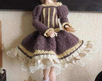 Winter dress for Minifee or other 1/4 bjd