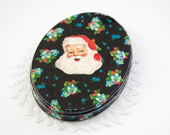 Vintage Shabby Christmas Tin
