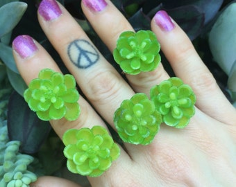 Faux succulent ring  - Any size