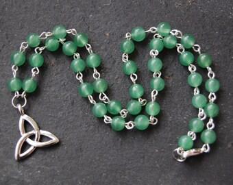 Celtic Triquetra or Triple Brigid/Brighid/Bridget Necklace. Druid, Witch, Pagan, Wicca, Goddess, Saint, Ireland, Druidess, Druidcraft