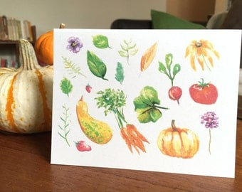 Harvest Note Card - Blank