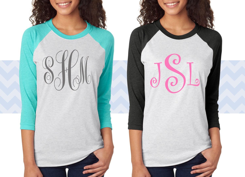 New monogram baseball tee shirt personalized baseball t for Custom baseball tee shirts