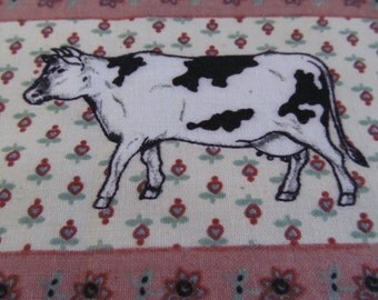 The cows are comin' home, fabric strip