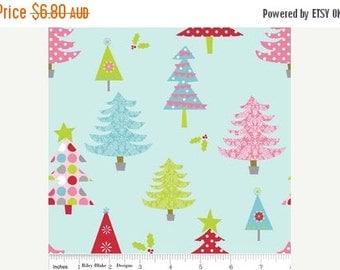 ON SALE SALE Riley Blake Fabric - 1/2 Metre Christmas Basics Trees in Blue