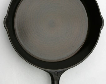Vintage #9 VOLLRATH Larger Size Cast Iron Skillet With a No. 3 Skillet Pan Added Professionally Cleaned, Organically Seasoned Ready to Use