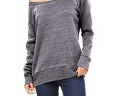 CUSTOM PRINTS - Women's Flowy Off The Shoulder Sweatshirt