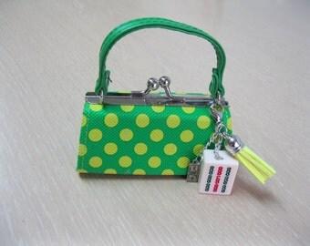Mini Mahjong coin purse with removable Mahjong charm
