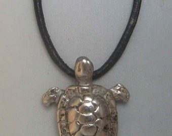 turtle pendant amulet 925 sterling silver necklace charm