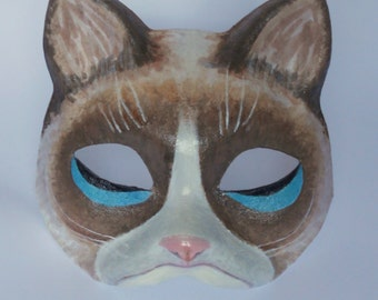 paper mache masks   cat mask