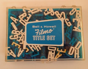 Vintage Bell & Howell Filmo Title Set -- 3 D 3/4 Inch Letters for Your (Vintage) Home Movies, Indie Film or Collage / Assemblage Art