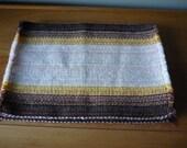 Vintage Woven Placemats, Set of 4, Earthy Colours, Retro Table Decor