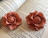 3pcs leather rose flower