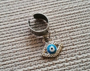Evil Eye Ear Cuff or Loc Jewelry