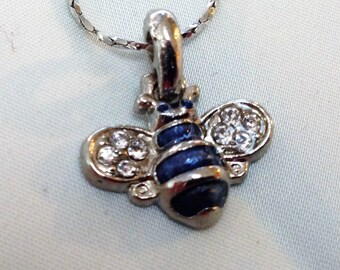 Bee pendant and chain.