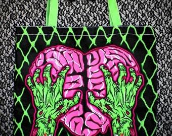 S A L E Brain Lover Canvas Purse