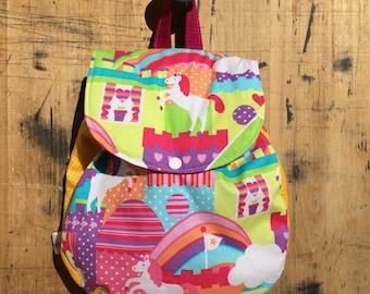 Girl/Purple/Pink/Multicolor Unicorn Back Pack/Castle BackPack/Princess Back Pack Toddler Back Pack