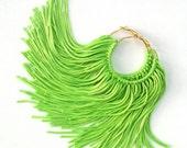 Lime Fringe Hoops