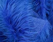 MoHair 60 Inch Faux Fur Royal Blue Fabric by the Yard, 1 yard