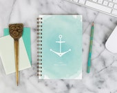 """2016 Weekly Planner """"Anchored"""" with monthly spreads, back pocket, stickers, adhesive tabs and more"""