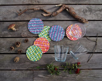 Baltic Mixed Colours Coasters