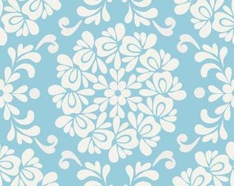 CLEARANCE Sale - 1 Yard - Riley Blake Designs Priscilla Blue Ball SKU C3363-BLUE