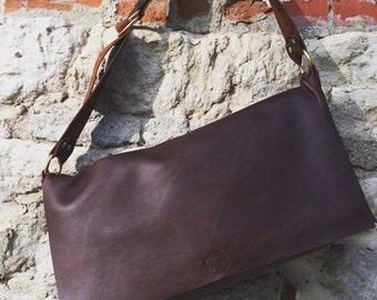 handmade leather messenger