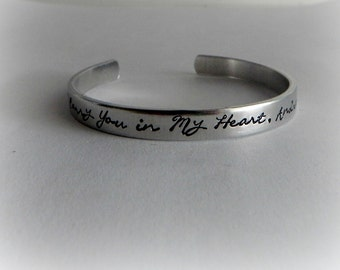 I Carry You in My Heart - Hand Stamped Personalized Memorial Bracelet - Miscarriage Jewelry - kg114
