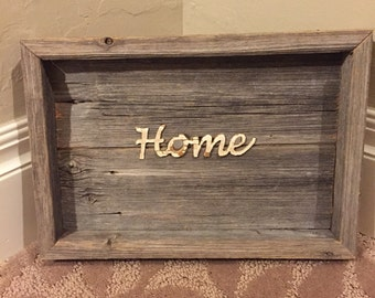 Home Sign, Home Wall Decor, Reclaimed Wood Decor, Repurposed Wood Decor, Rustic Wood Decor,