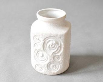 Vintage vase West German pottery Scheurich Snail white  282-16 Scheurich Mid-Century