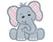 Zoo Baby Elephant Applique Machine Embroidery Design Jungle Boy Girl Cute Safari animal INSTANT DOWNLOAD