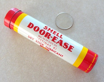 1960's Shell Door Ease Tin Tube Almost Full, Excellent Original Condition, Retinax K Lubricant