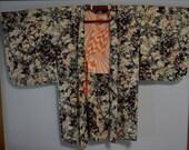Silk haori jacket, vintage Japanese coat
