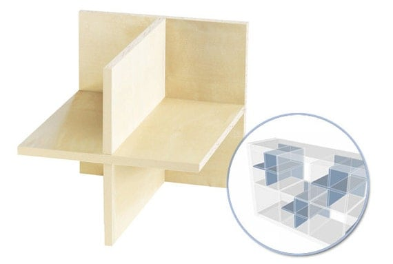Shelf dividers 4 sharing for IKEA Kallax shelf / Birch