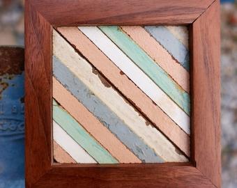 """Reclaimed Wood MicroArt """"Stripe"""""""