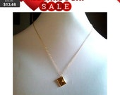 Gold envelope pendant necklace - simple, modern, everyday jewelry, friend gift