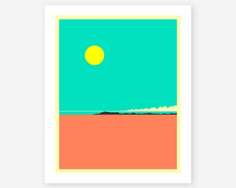 BOLIVIA, Modern, Minimal, Wall Art for the home decor, Giclée Fine Art Print