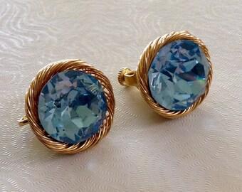 Vintage Vendome Blue Topaz earrings