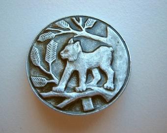 Vintage soviet USSR  pin badge Lynx