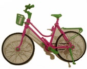 Barbie Pink and Green Bike-Barbie Toy Accessory