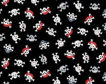Fat Quarter Pirates Skull and Crossbones 100% Cotton Quilting Fabric Makower