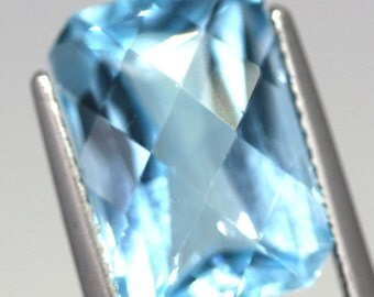 8.96 Carat Natural Swiss Blue Topaz Baguette