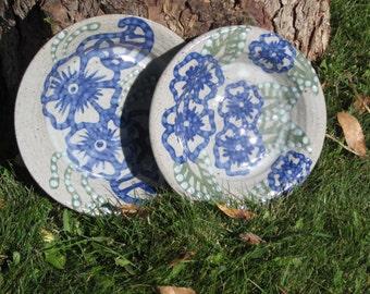 Set of 2 Hand Painted Henna Nesting Plates